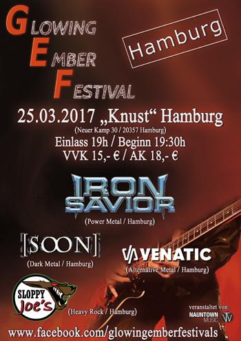 Flyer Glowing Ember Festival Hamburg